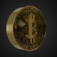Golden Rotating Bitcoin Symbol - VideoHive Item for Sale