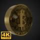 Golden Rotating Bitcoin Symbol - 4K - VideoHive Item for Sale