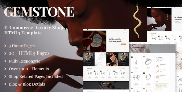 Gemstone | E-Commerce HTML Template