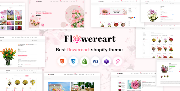 Flowercart - Florist Boutique & Flower Store Shopify Theme