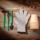 Gardening tools on wooden background flat lay - PhotoDune Item for Sale