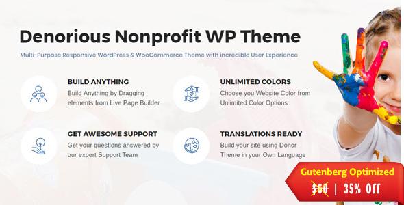 Denorious   Nonprofit and Political WordPress Theme