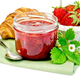 Jam of strawberry with a croissant - PhotoDune Item for Sale