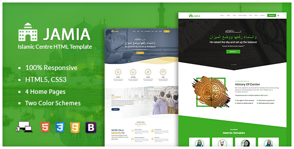 Jamia - Islamic Center Responsive HTML Template by nauthemes