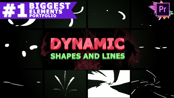 Dynamic Shapes and Lines | Premiere Pro MOGRT