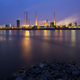 Coking Plant By River At Night - PhotoDune Item for Sale
