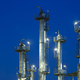 Distillation Towers At Night - PhotoDune Item for Sale
