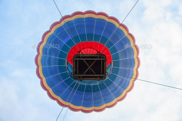 Captive balloon in Aeroestacion Festival in Guadix - Stock Photo - Images