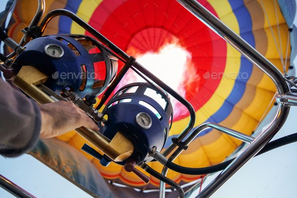 Captive balloons in Aeroestacion Festival in Guadix - Stock Photo - Images
