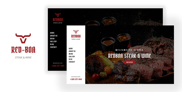 REDBOA -  Steakhouse, Winery and Restaurant Template