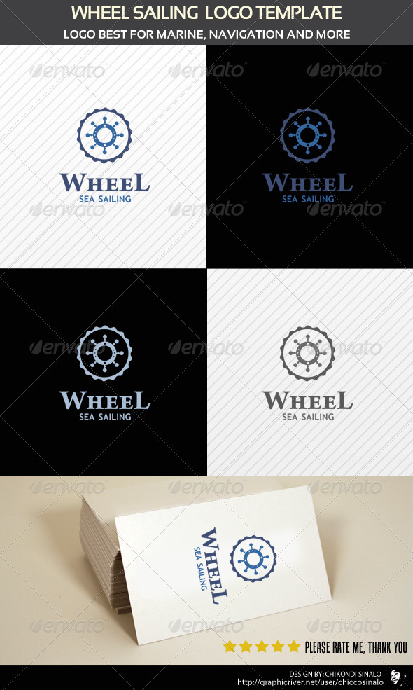 Wheel Sailing Logo Template - Abstract Logo Templates