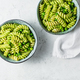 Fusilli with green peas and pesto in bowls - PhotoDune Item for Sale