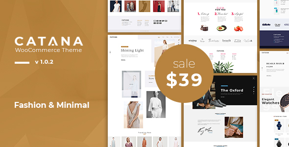 Catana - Fashion & Minimal WooCommerce WordPress Theme