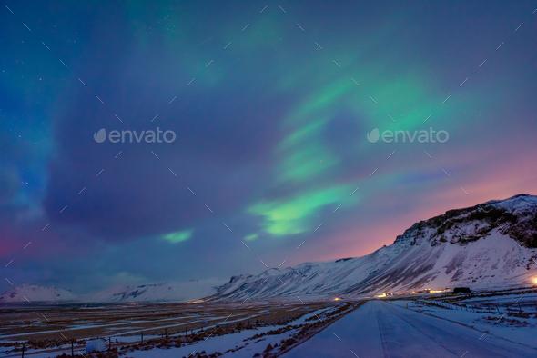 Amazing Northern lights - Stock Photo - Images