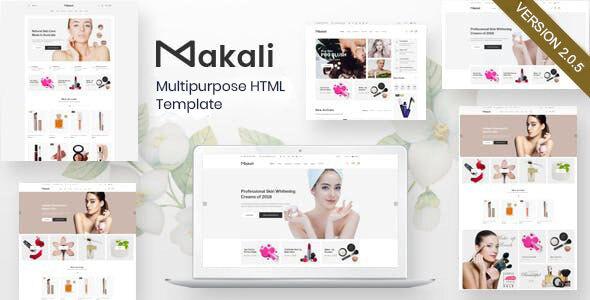 Extraordinary Makali – Multipurpose HTML Template
