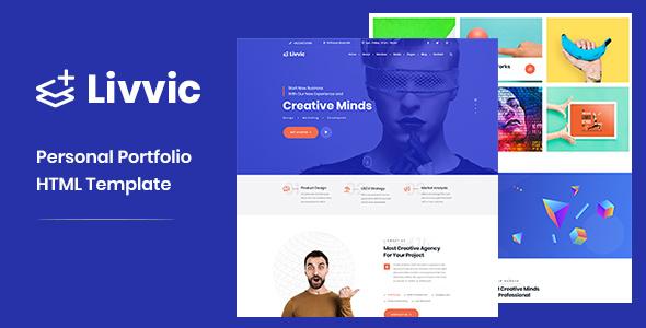 Extraordinary Livvic - Personal Portfolio HTML Template