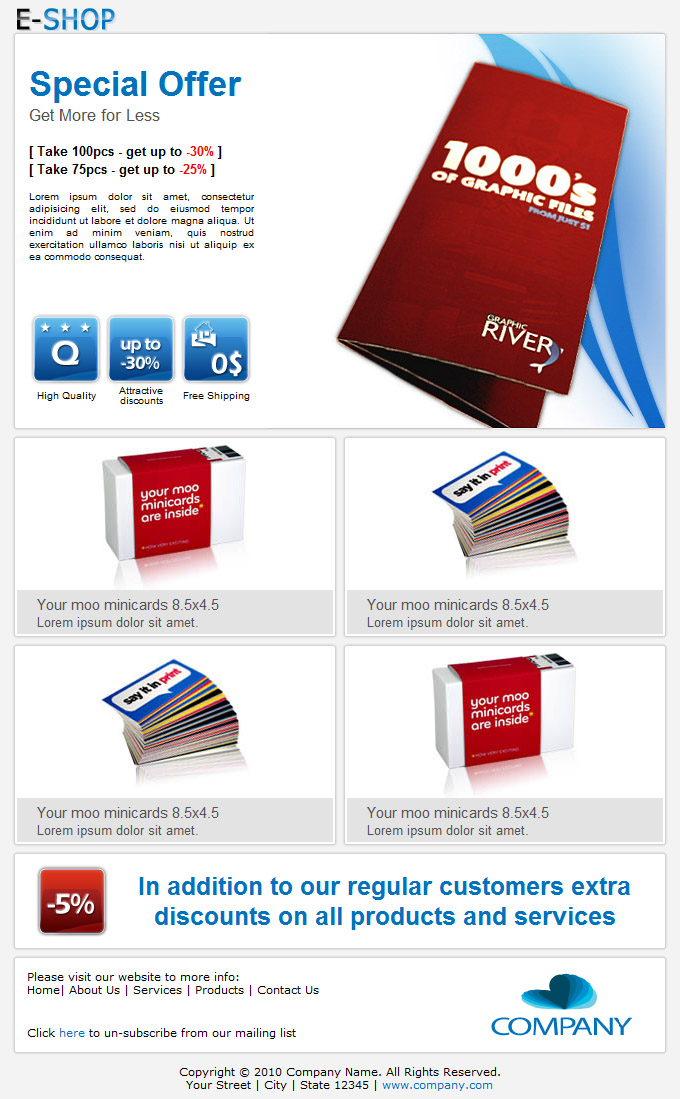E-SHOP - Email Template by subline | ThemeForest