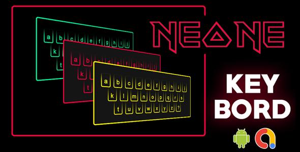 Neon Keyboard Theme   Smart Neon keyboard   LED Keyboard Theme   Android app  Admob ads