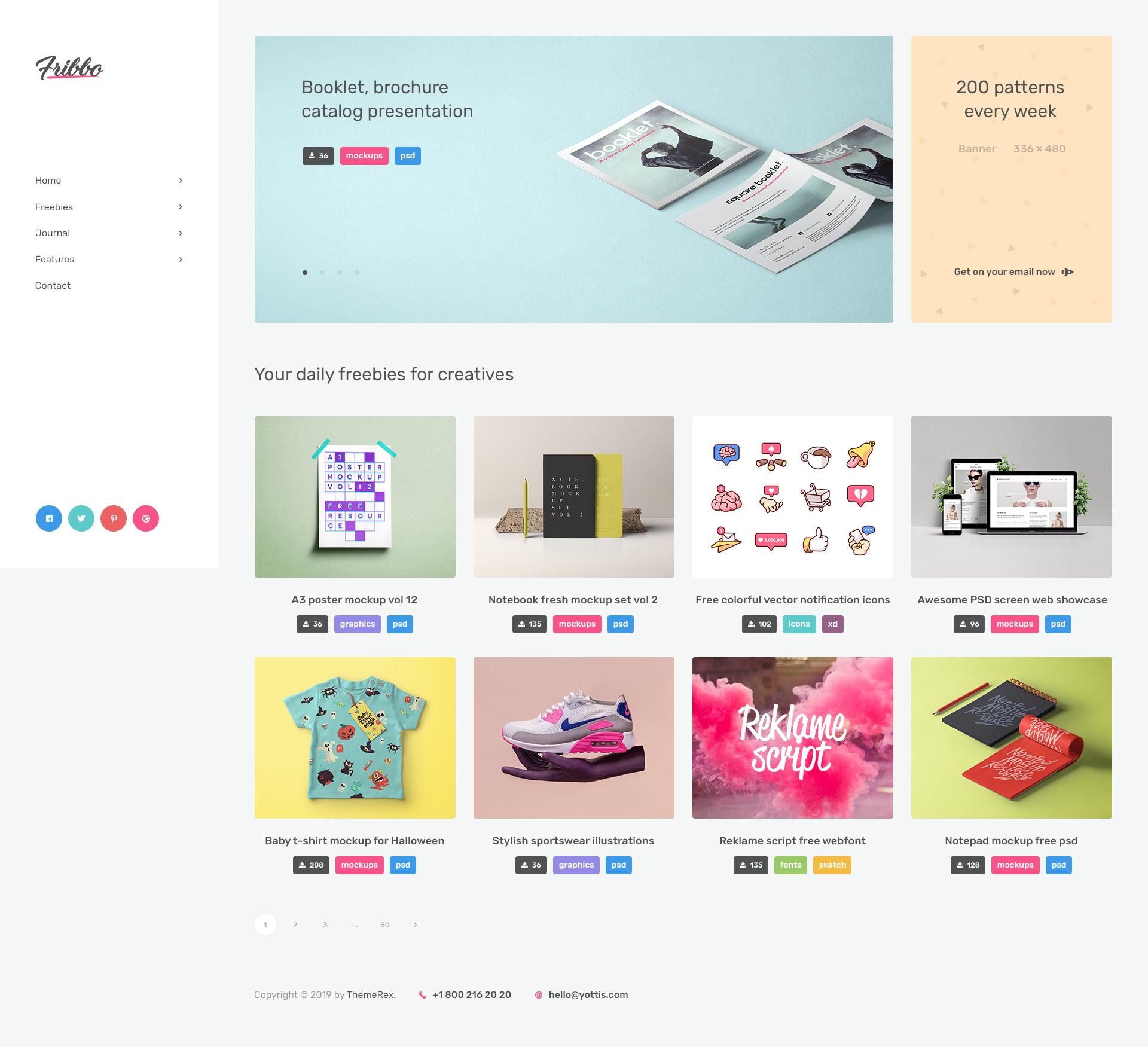 Fribbo - Freebies Blog WordPress Theme by AncoraThemes | ThemeForest