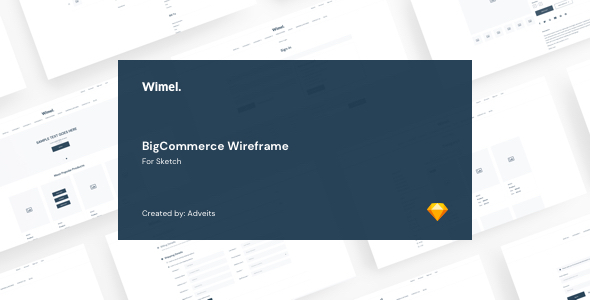 Wimel - BigCommerce Wireframe for Sketch by adveits
