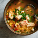 Homemade chicken soup with vegetables and rice in bowl - PhotoDune Item for Sale
