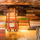 container yard closeup at night in shanghai - PhotoDune Item for Sale