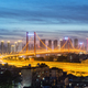 wuhan yingwuzhou yangtze river bridge at night - PhotoDune Item for Sale