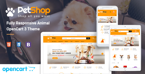 PetShop - Responsive Pet Store OpenCart 3 Theme by opencartworks