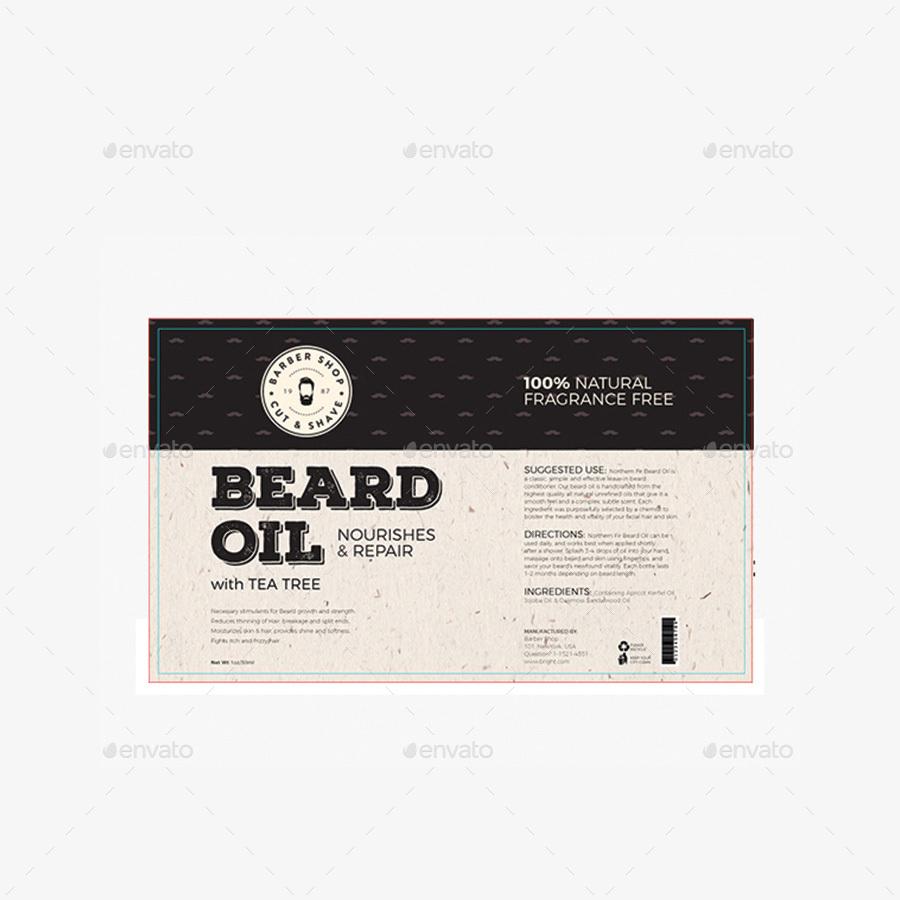 High Quality Beard Label Template