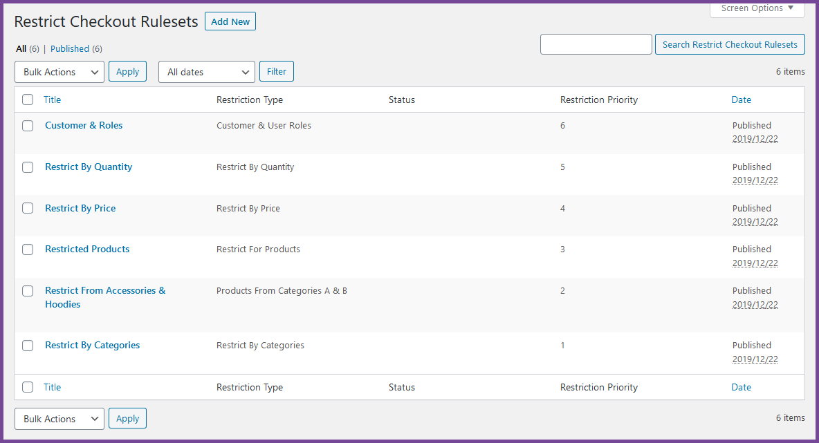 WooCommerce Restrict Checkout Plugin - 3