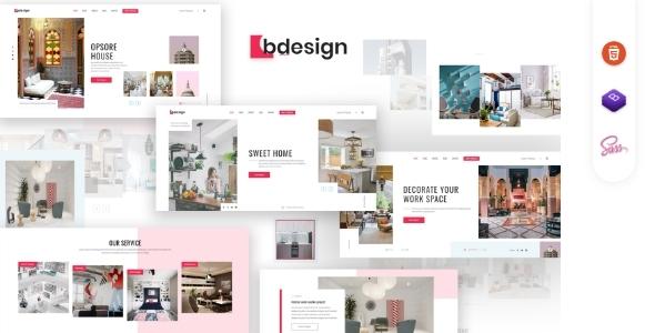 Bdesign - Architecture & interior Design HTML Template by codingeek