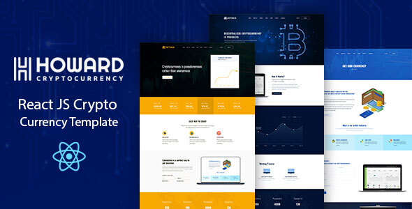 Howard - React JS Crypto Currency Template by codecarnival