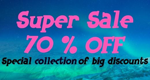 Super Big Discount 70% OFF