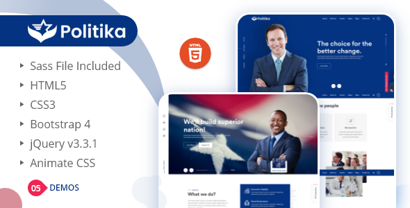 Politika - Political & Election Campaign HTML Template
