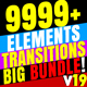 CINEPUNCH - Transitions I Color LUTs I Pro Sound FX I 9999+ VFX Elements Bundle - VideoHive Item for Sale