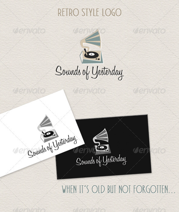 Vintage Style Gramophone - Fresh & Minimal - Objects Logo Templates