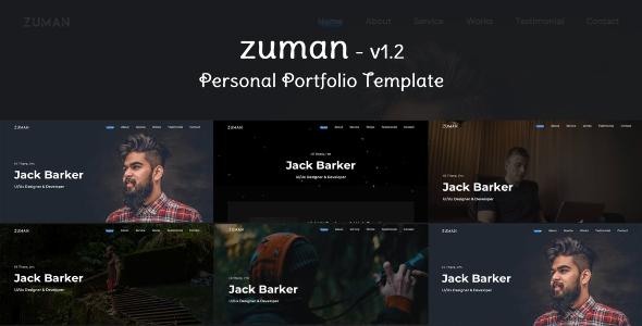 Zuman - Creative Personal Portfolio