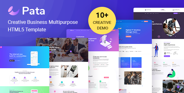 PATA: Corporate Business Agency Bootstrap 4 Template