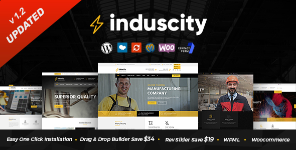 Induscity - Factory and Manufacturing WordPress Theme by SteelThemes