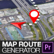 Map Route Generator for Premiere Pro - VideoHive Item for Sale