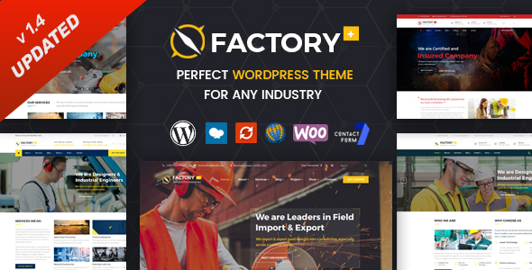 Factory Plus - Industry and Construction WordPress Theme by SteelThemes