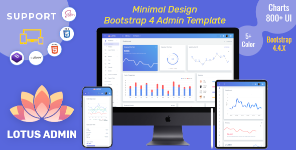Fine Lotus - Responsive Admin Dashboard Template Web App