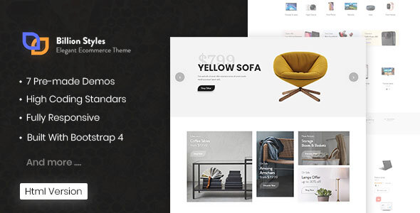 Special Billion Styles - HTML eCommerce Template