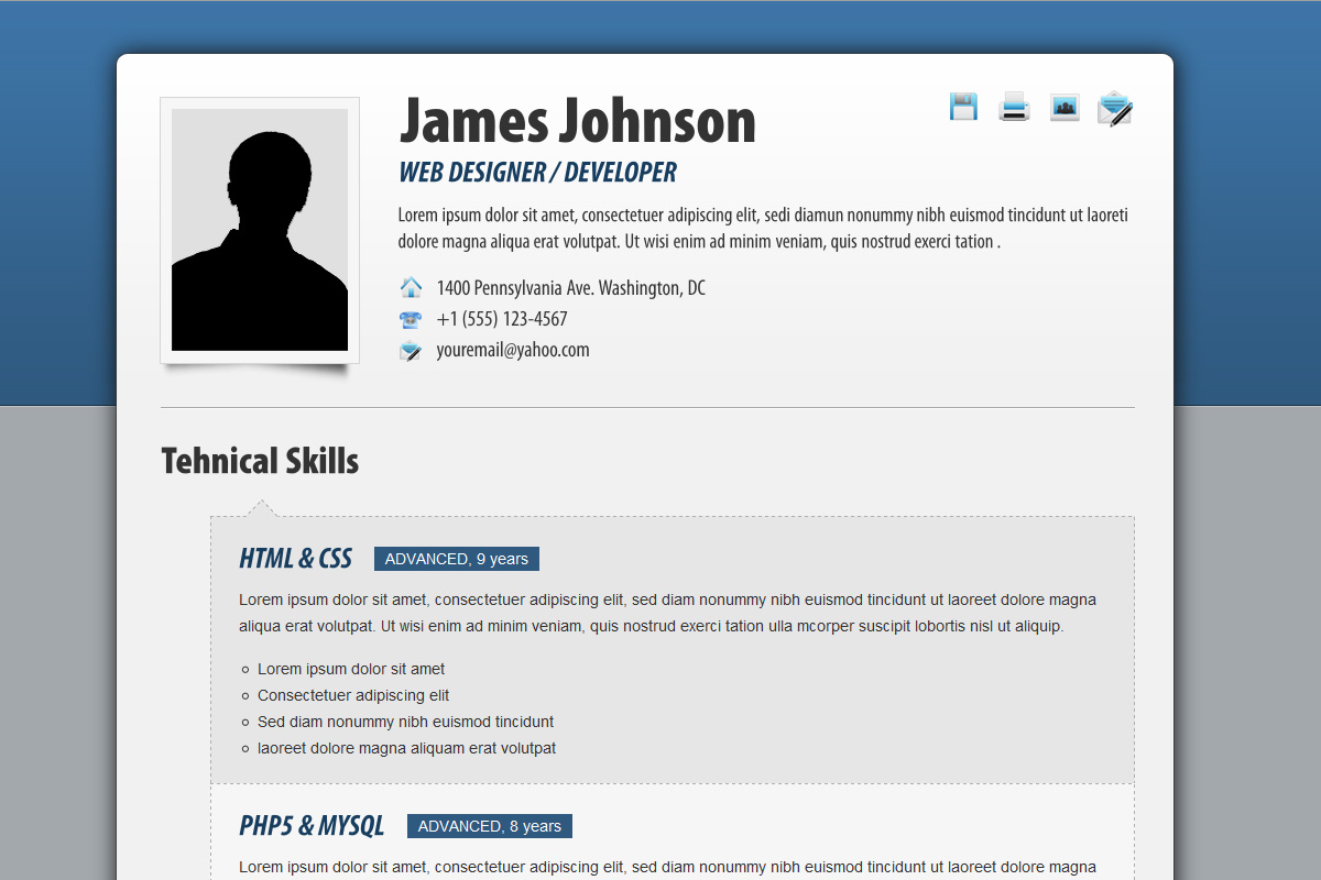 Fancy Resume  Cv By CondR  Themeforest