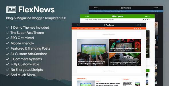FlexNews - Responsive Blog & Magazine Blogger Template by templateifydotcom