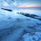 frozen big lake in winter at dusk - PhotoDune Item for Sale