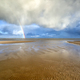 rainbow and dramatic storm cloud over sea - PhotoDune Item for Sale
