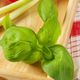 Fresh basil on wooden serving tray - PhotoDune Item for Sale