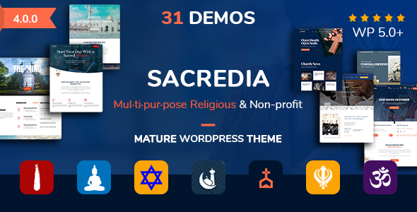 Sacredia | Church Multipurpose and Non-profit WordPress Theme