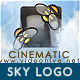 Sky Logo Cinematic Cloud Fly-Through - VideoHive Item for Sale